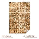 Graz Design 767067_15x10_70 Fliesenaufkleber Mosaik - Muster Braun | mit Fliesenbildern die Fliesen-Wände überkleben (Fliesenmaß: 15x10cm (BxH)//Bild: 70x105cm (BxH))