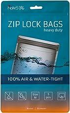 Noaks Bag | Schutzhülle, ZIP-Beutel, Dry-Bag | Größe M – 5 Stück | 100 % wasserdicht, geruchsdicht & sicher | Für Urlaub, Sport & Reisen | Das Original