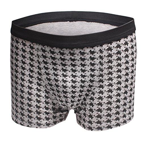Dingbear Unterwäsche Herren von Pack 3 Trunk Shorts Modal elastische Taille atmungsaktiv Designer Boxershorts Trunks Comfort Fit Medium