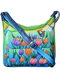 LEATHER MADE Women's Sling Bag (Multi-Coloured, MM0320.03)
