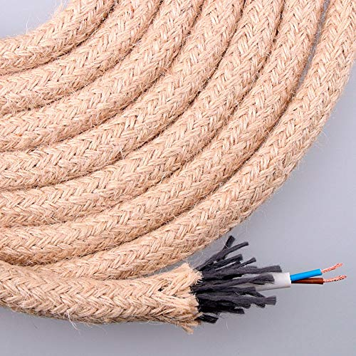 EDM Kabel Jute rund 2x0.75 ø14mm 20m