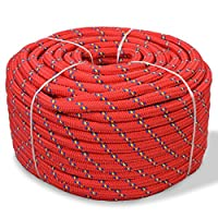 Festnight Marine Rope Mooring Braid Rope Polypropylene Rope Cord for Sailing Boating Swing Lifting - Red, 10 mm x 50 m 11