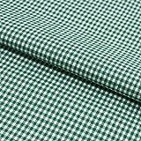 Stoff Meterware, Vichy Karo 2x2 mm, Grün Weiß, Baumwolle,
