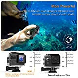 APEMAN Action Kamera WIFI sports cam 4K camera 20MP Ultra Full HD Unterwasserkamera Helmkamera wasserdicht mit 2...