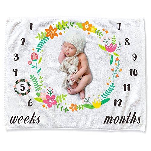 enstein, CAVN Baby Flanell Decke Soft/Cozy/Dicke Flanell 0-12 Monate Baby Meilenstein Fotokulisse Foto Requisiten für Neugeborene Junge und Mädchen (3 Monats Baby Foto Ideen)