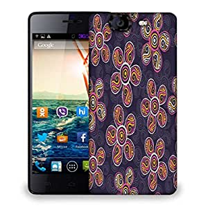 Snoogg Abstract Floral Grey Pattern Designer Protective Phone Back Case Cover For Micromax Canvas Knight A350