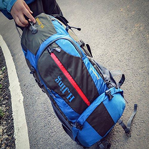 Großvolumige Outdoor-Sport Und Freizeit Bergsteigen Tasche Wasserdicht Schulter,Orange Blue