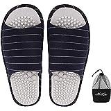 Stripe Acupressure Massage Slipper Non-Slip Indoor Home Shoes Open Toe Flip Flops Fitness Foot Massager Sandal Casual Women S