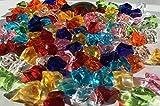 CRYSTAL KING 100 Stück 15mm Glitzernde Bunte Deko Eis Diamanten Brillianten Strasssteine Acrylsteine basteln Dekosteine Gltzersteine Strass Steine Zum Verzieren Dekorieren - 3