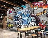 Wolipos 3D Mural Etiqueta De La Pared Papel Pintado Grafiti Motocicleta Arte Callejero Personalidad Fondo Adorno Hd Decoracion 200Cmx150Cm