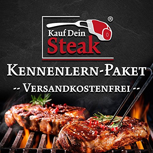 "Das ""Kauf Dein Steak"" Kennenlern-Paket inkl. Rumpsteak (Dry-Aged), Porterhousesteak (Dry-Aged), Rib-Eye-Steak ohne Knochen (Dry-Aged), T-Bone-Steak (Dry-Aged)"