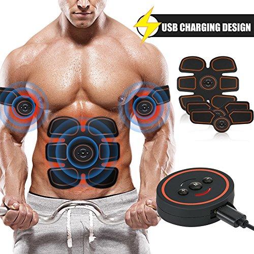 Openuye Elettrostimolatore Muscolare EMS, Elettrostimolatore Muscolare Trainer Tonificante Cintura Addominale Portatile per...