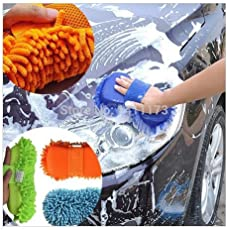 Harikrishnavilla ZM1 Wash and Dry 2-in-1 Multipurpose Microfibre Cleaning Sponge (Colour May Vary)