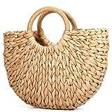 Borsa da Spiaggia Estiva, JOSEKO Womens Straw Handbag Borsa a Tracolla Estiva per i Viaggi in Spiaggia e l'uso Quotidiano