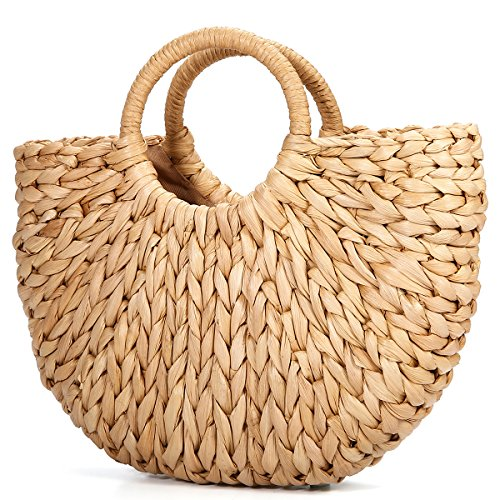 Sommer Strand Tasche, JOSEKO Damen Stroh Handtasche Sommer Schulter Tasche zum Strand Reise und Täglicher Gebrauch (Stroh-strand-tote)