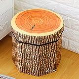 #3: Imprexo Foldable Storage Box Cum Sitting Stool for Kids, Tree Stump Design