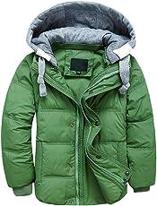 YoungSoul Kinder Daunenjacken Winterjacke mit abnehmbarer Kapuze für Jungen Mädchen Kinderweste Daunenweste warm Herbstjacken Wintermantel