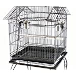FoxHunter Large Metal Bird Cage Stand For Parrot Macaw Budgie Canary Finch Cockatiel Aviary Lovebird Parakeet With Wheel… 12