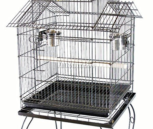 FoxHunter Large Metal Bird Cage Stand For Parrot Macaw Budgie Canary Finch Cockatiel Aviary Lovebird Parakeet With Wheel… 3