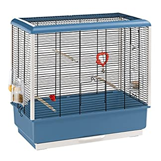 Ferplast Piano 4 Canary and Small Exotic Bird Cage, Blue 10