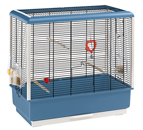 Ferplast Piano 4 Canary and Small Exotic Bird Cage, Blue 1