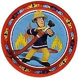 Motivteller Fireman Sam - Ø 23 cm, Pappe, 8 Stück, Menge 8