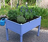 Orti urbani GREENLAND per terrazzi/giardini 90x60x75 cm. Colore: Blu lavanda