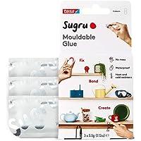 Sugru I000946 Moldable Multi-Purpose Glue for Creative Fixing and Making, White, 3 Piece