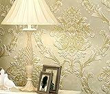 Longless Tapeten, 3D, Tapeten, Umweltschutz, Non-woven, Tapeten, europäischen Stil, Wohnzimmer, Schlafzimmer, TV, Hintergrund, Hintergrundbild, 10*0.53M