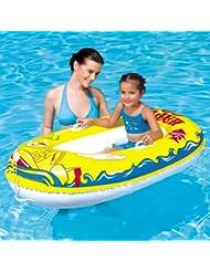 Happy Crustacean - Poolboot 137x89 cm, buntes Meerestier Design, Vinyl, gelb