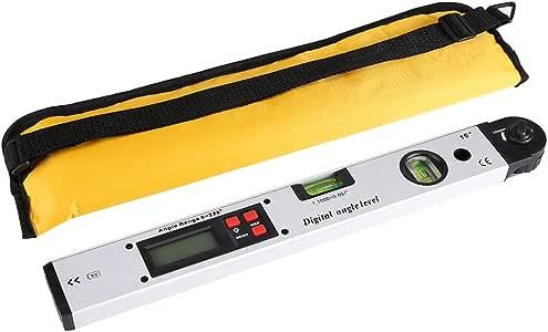 16inch Mumusuki Infrarot Digitalanzeige Winkel Lineal 360 /° Bereich Neigungsmesser Level Winkelmesser Finder Aufrecht 400mm