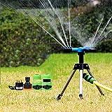 Aspersores De Riego Automatico Rotación 360 °, Trípode Aspersor Flexible para Jardín