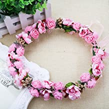 A-SZCXTOP - Guirnalda para novia, diseño de flores, con cinta ajustable,