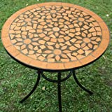 DEUBA GmbH & Co. KG. Salon de jardin Roma - 1 table & 2 chaises fer forgé et mosaique - mobilier de jardin Neuf...