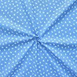 Baumwollstoff Trachten Blümchen Stoff Meterware Blau