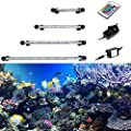 GreenSun Aquarium Light RGB Remote Colour Changing LED Fish Tank Light Underwater Submersible Crystal Glass Lighting Air Curtain Light - low-cost UK light store.