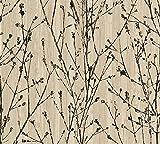 A.S. Création Vliestapete Borneo Tapete in Ast Optik 10,05 m x 0,53 m beige schwarz Made in Germany 327133 32713-3