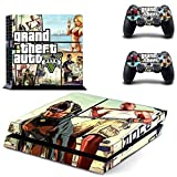 MightySticker® PS4 Designer Skin Game Console + 2 Controller Decal Vinyl Protective Covers Stickers for Sony PlayStation 4 - GTA V Grand Theft Auto 5 SA Liberty City Criminal Ganster Squad by MightySticker®