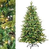 Künstlicher Weihnachtsbaum 210 cm mit 240 LEDs Beleuchtung Christbaum PE Spritzguss / PVC Mix