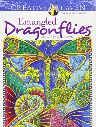 Creative Haven Entangled Dragonflies Coloring Book (Dover Publications Inc) por Angela Porter