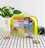 Piggy Box für Reisende Geldbanken Elegante Handtasche Sparschwein Weißblech große Kapazität Aufbewahrungsbox mit Schloss (gelb)
