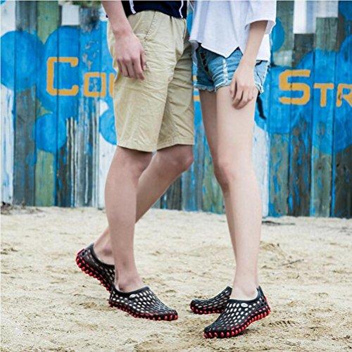 Weiche Loch-Schuhe Art- und Weisesandelholze für Männer und Frauen rutschfest und atmungsaktiv black 2188