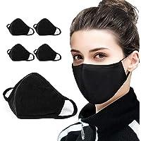 5 pks Cotton Face Mask Covering Fashion Face masks 2-Layer Unisex Reusable Fashion Washable Mask I Washable Face Mask…