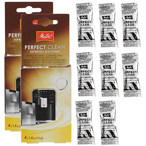 Genuine Melitta Perfect Clean Coffee Machines Descaler Cleaning Tablets by Melitta