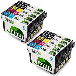 JARBO Compatible Epson 29 XL Cartuchos de tinta (4 Negro,2 Cian,2 Magenta,2 Amarillo) álta capacidad Compatible con Epson Expression Home XP-332 XP-335 XP-235 XP-432 XP-435 XP-245 XP-247 XP-342 XP-345 XP-442 XP-445 XP-330 XP-430