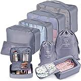 Bteng Organizer Valigie Viaggio Set di 9, Organizzatore Valigia Cubi di Imballaggio Essential Organizer Borse da Viaggio Impe