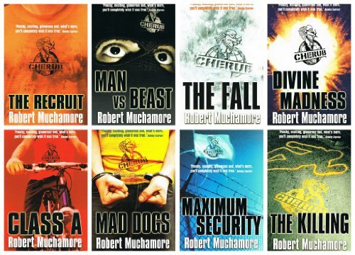 Cherub Series - Robert Much more - 8 books Numbers 1, 2 ,3, 4, 5, 6, 7,8 (The Recruit / Class A / Maximum Security / Divine Madness / Man vs. Beast / The Fall / Mad Dogs rrp £55.92)