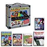 KARAOKE ANLAGE + 2 MIKROFONE + 5 PARTY DVD SET - KARAOKE STUDIO PRO
