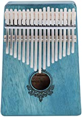 Kalimba Thumb Piano, Mahogany 17 Key Finger Piano with Tuning Hammer, Scale Sticker, Finger Stall, Cleaning Cloth, Carrying Bag