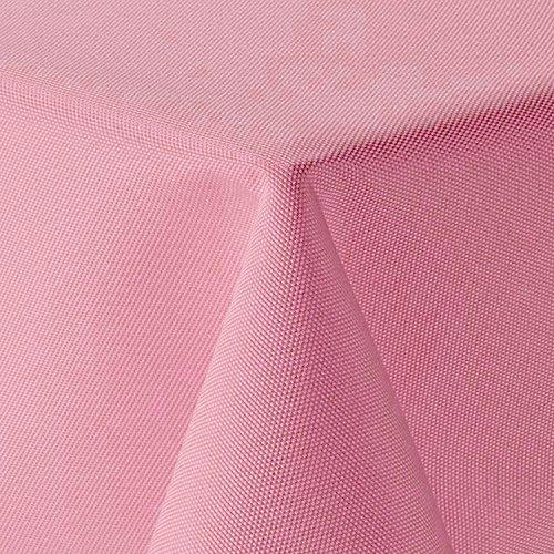 amp-artshop Tischdecke Leinen Optik Eckig 90x90 cm Rosa Hell Pink - Farbe, Form & Größe wählbar mit Lotus Effekt - (E90x90Rosa)